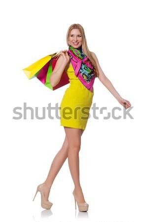 買い物客 少女 ピンク ドレス プラスチック ストックフォト © Elnur