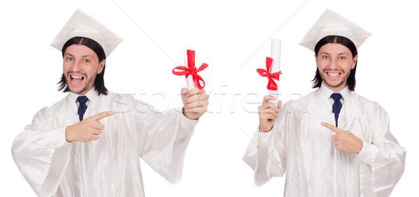 Fiatalember kész egyetem érettségi papír diák Stock fotó © Elnur
