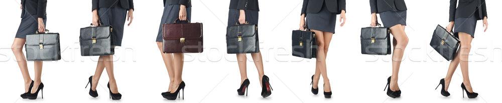 Aktentasche Geschäftsfrau Frau Mädchen glücklich Stock foto © Elnur
