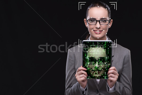 The woman in face recognition concept Stock photo © Elnur