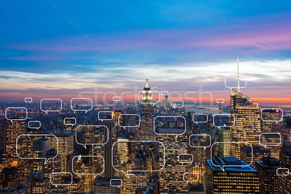 социальной сетей город телефон интернет здании Сток-фото © Elnur