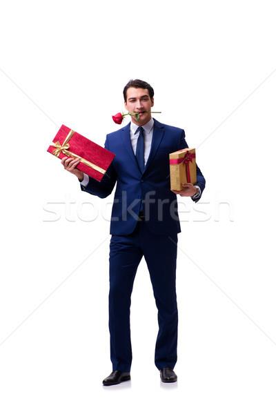 Romantyczny człowiek małżeństwa wniosek kobieta Zdjęcia stock © Elnur