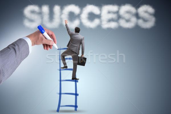 手 図面 はしご 成功した ビジネスマン ビジネス ストックフォト © Elnur
