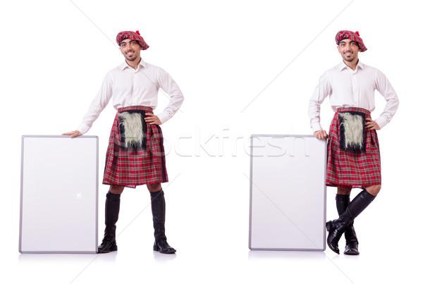 Conselho branco homem espaço roupa quadro de avisos Foto stock © Elnur
