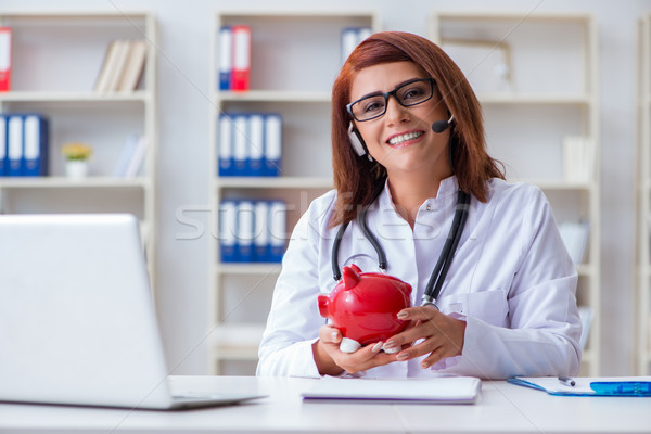 Médecin coûteux santé ordinateur argent médicaux Photo stock © Elnur