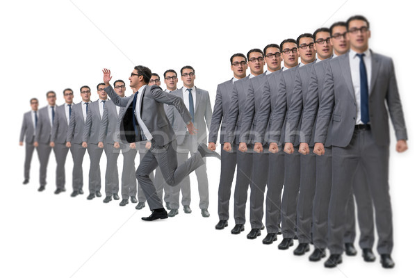 Stałego na zewnątrz korony biznesmen człowiek tłum Zdjęcia stock © Elnur