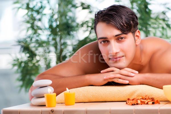 Młodych przystojny mężczyzna spa procedura lekarza zdrowia Zdjęcia stock © Elnur