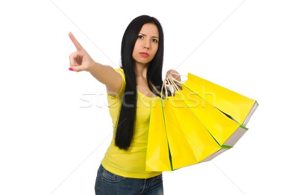 женщину изолированный белый рынке подарок Сток-фото © Elnur