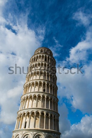 Famous leaning tower of Pisa during summer day Stock photo © Elnur