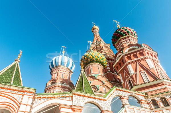 Famoso catedral Moscou cidade atravessar azul Foto stock © Elnur