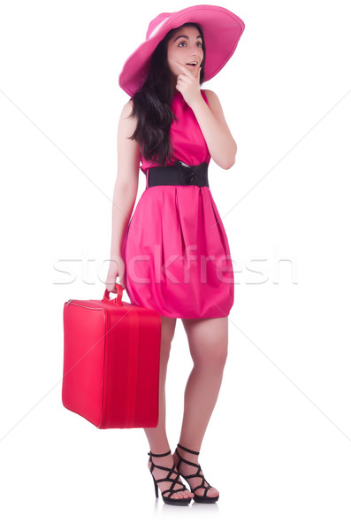 Young girl in pink dress travelling Stock photo © Elnur
