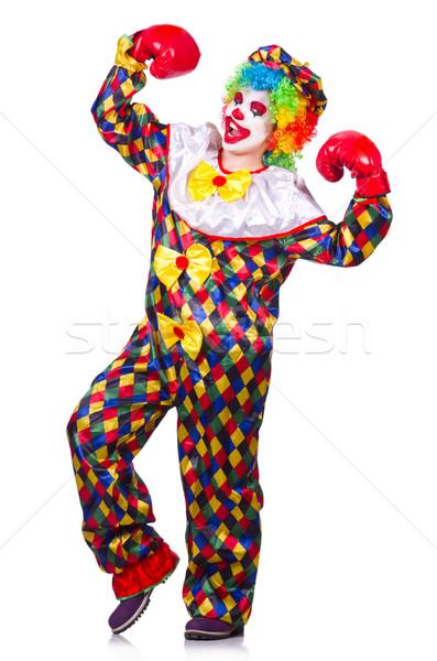 Divertente clown isolato bianco sorriso faccia Foto d'archivio © Elnur