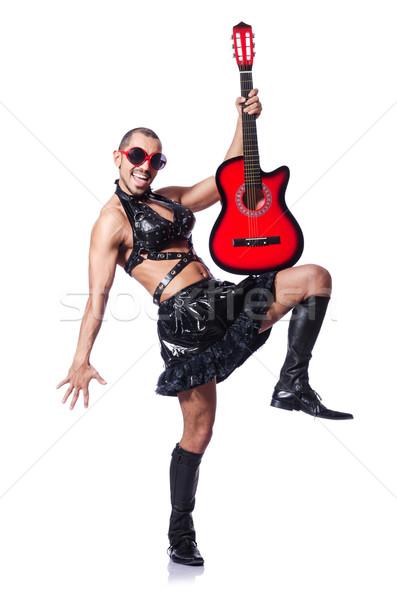 Man vrouw kleding gitaar muziek achtergrond Stockfoto © Elnur