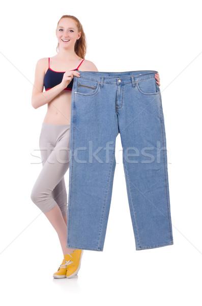 женщину большой джинсов диеты девушки счастливым Сток-фото © Elnur