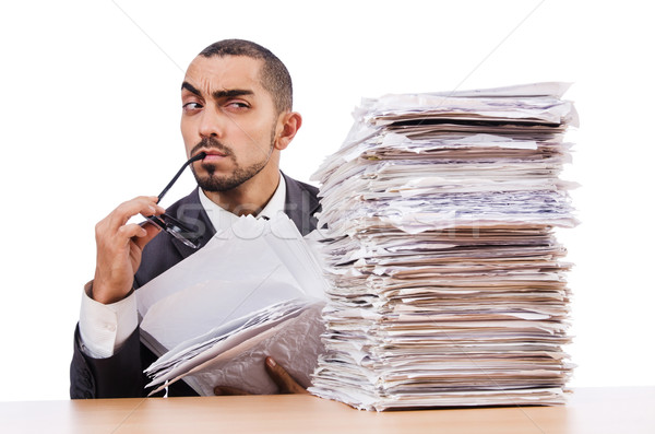 Man with too much work to do Stock photo © Elnur