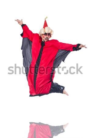 Dziewczyna czerwona sukienka taniec dance czerwony balet Zdjęcia stock © Elnur