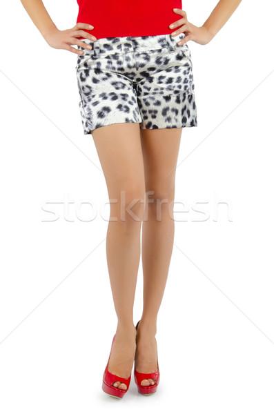 брюки изолированный белый модель фон джинсов Сток-фото © Elnur