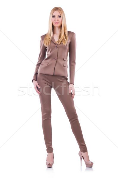 Model wearing fashionable clothing on white Stock photo © Elnur