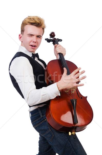 面白い 男 バイオリン 白 サウンド 男性 ストックフォト © Elnur