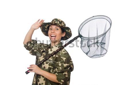 Komik asker askeri adam yeşil savaş Stok fotoğraf © Elnur