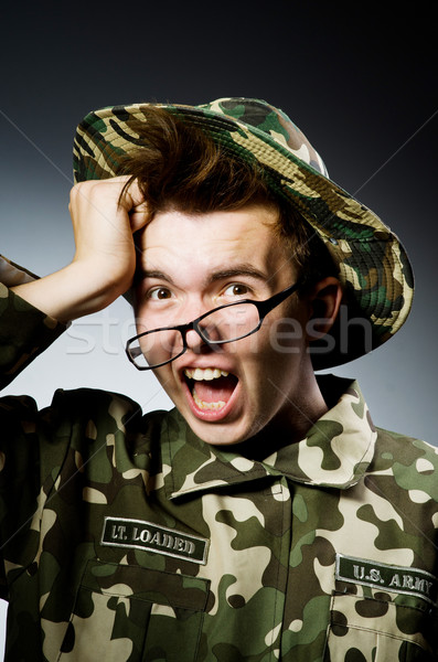 面白い 兵士 軍事 男 緑 戦争 ストックフォト © Elnur