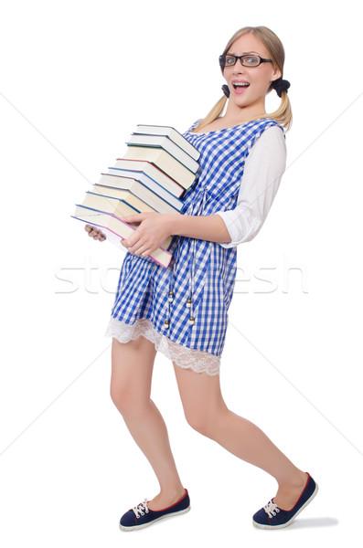 Komik öğrenci kitaplar okul arka plan Stok fotoğraf © Elnur