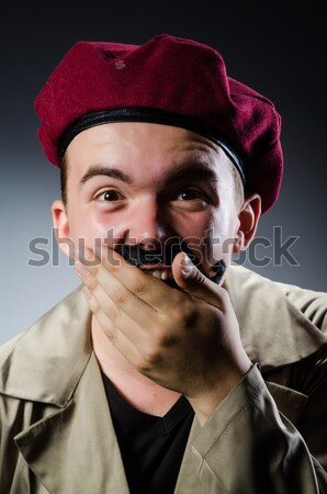 смешные курение трубы табак танцы белый Сток-фото © Elnur