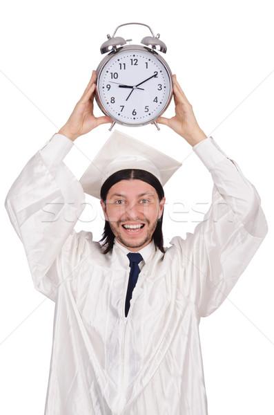 Estudiante que falta plazos reloj blanco educación Foto stock © Elnur