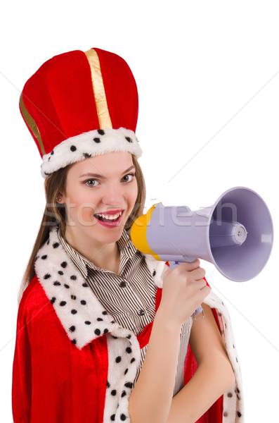 Królowej biznesmen głośnik funny kobieta pracy Zdjęcia stock © Elnur
