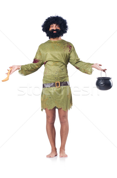 Savage man isolated on white Stock photo © Elnur