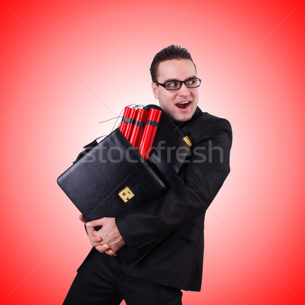 Businessman with dynamite isolated on white Stock photo © Elnur