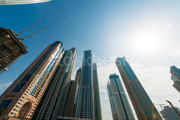 Dubaï marina gratte-ciel affaires ciel Photo stock © Elnur