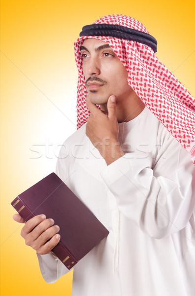 Stock photo: Arab man praying on white