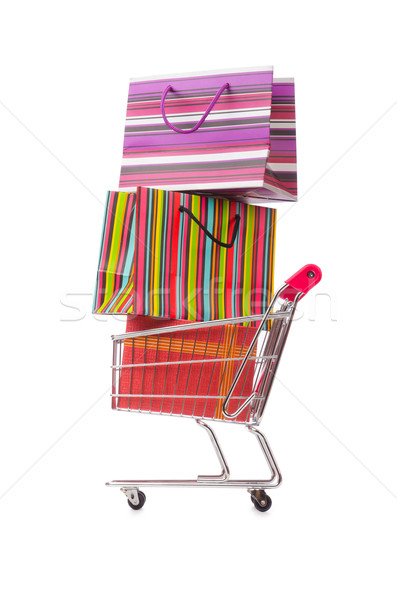 Cart in holiday shopping concept Stock photo © Elnur