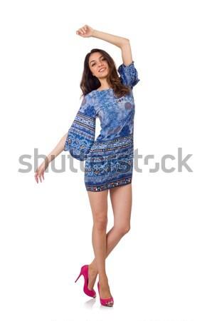 Nő matróz izolált fehér mosoly divat Stock fotó © Elnur