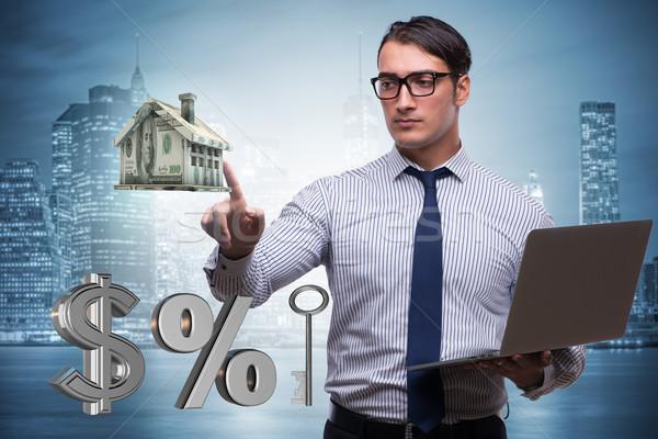 Jovem empresário hipoteca negócio escritório casa Foto stock © Elnur