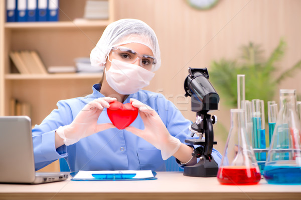 The young woman doctor working in the lab Stock photo © Elnur