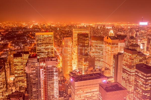 Noc widoku nowego Manhattan wygaśnięcia działalności Zdjęcia stock © Elnur