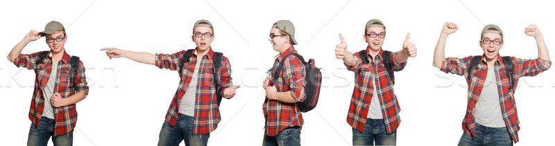 összetett fotó diák könyvek férfi háttér Stock fotó © Elnur