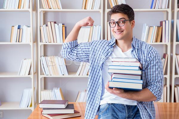 Jeunes étudiant livres examens livre homme Photo stock © Elnur