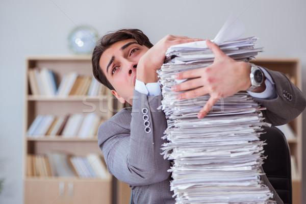 Affaires occupés paperasserie bureau affaires papier Photo stock © Elnur