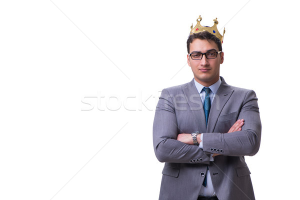 King businessman isolated on white background Stock photo © Elnur