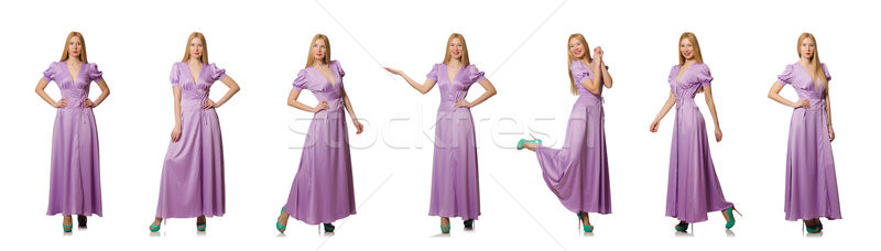 Nice woman in fashion clothing - composite image Stock photo © Elnur
