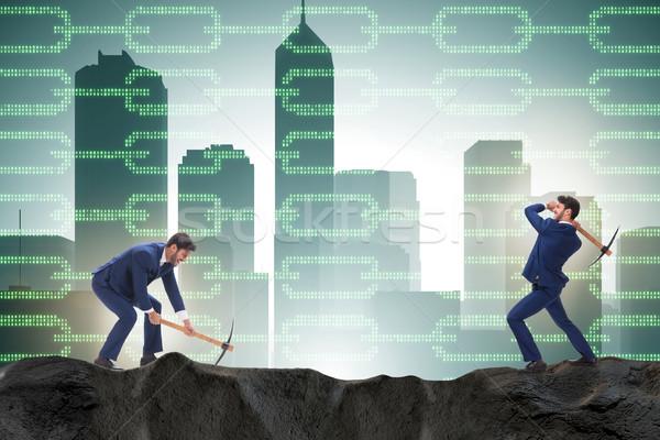 ビジネスマン マイニング お金 インターネット 技術 セキュリティ ストックフォト © Elnur