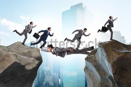 Pessoas de negócios queda penhasco mulher trabalhar Foto stock © Elnur