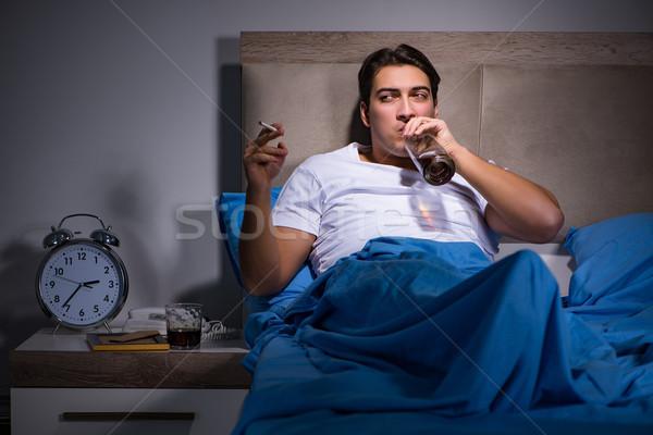 отчаянный человека разведенный кровать любви печально Сток-фото © Elnur