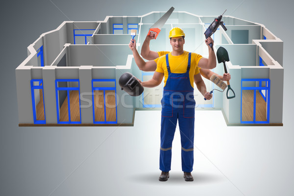 The jack of all trades concept with worker Stock photo © Elnur