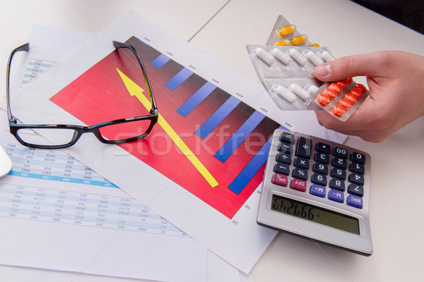 Finance analyst feeling sick due to bad results Stock photo © Elnur