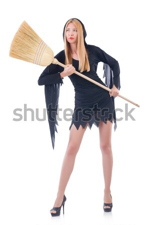 Woman devil with trident isolated on white Stock photo © Elnur