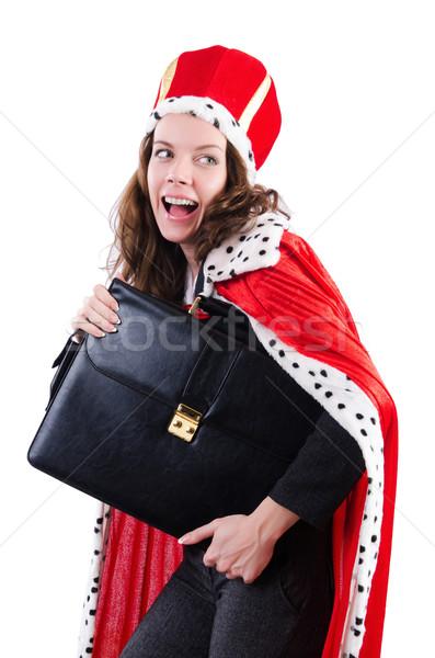 Donna regina divertente lavoro imprenditore executive Foto d'archivio © Elnur